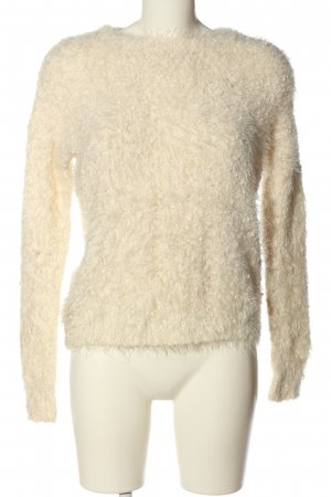 Forever 21 Rundhalspullover creme Casual-Look