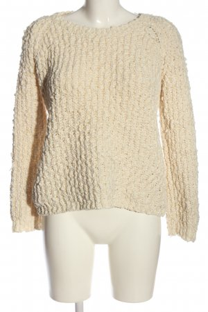 Forever 21 Rundhalspullover wollweiß Zopfmuster Casual-Look