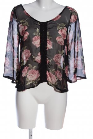 Forever 21 Schlupf-Bluse Allover-Druck Casual-Look
