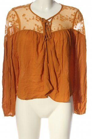 Forever 21 Schlupf-Bluse hellorange Casual-Look