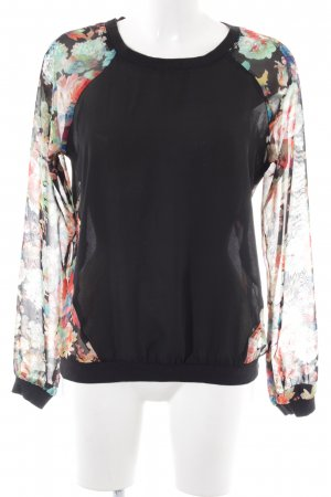 Forever 21 Schlupf-Bluse Blumenmuster Casual-Look