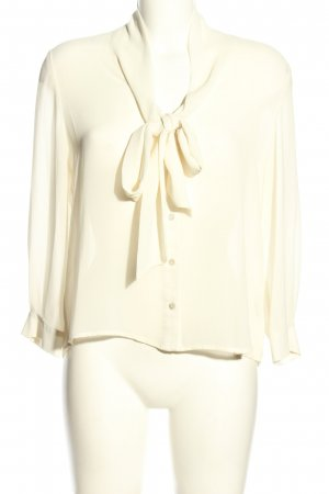 Forever 21 Blusa collo a cravatta crema stile casual