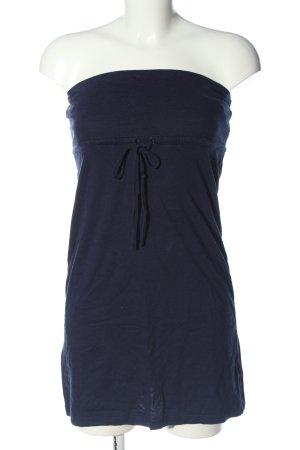 Forever 21 schulterfreies Kleid blau Casual-Look