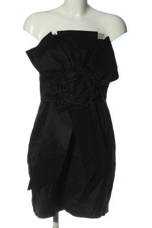 Forever 21 schulterfreies Kleid schwarz Elegant
