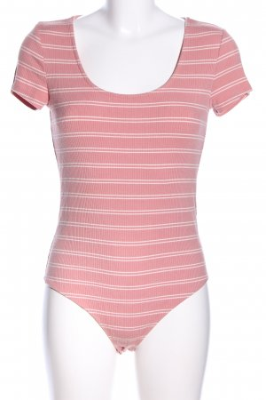 Forever 21 Shirtbody pink-wollweiß Streifenmuster Casual-Look