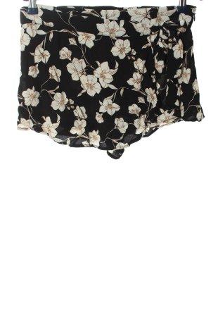 Forever 21 Shorts schwarz-weiß Blumenmuster Casual-Look