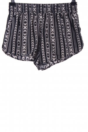 Forever 21 Shorts nero-bianco sporco stampa integrale stile casual