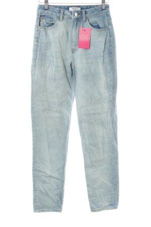 Forever 21 Slim Jeans himmelblau College-Look