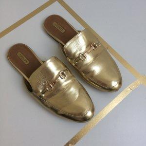 Forever 21 Slipper Blogger Instagram Gold Beige 40 41 Fashion Pantolette Schuhe Budapester Sommer
