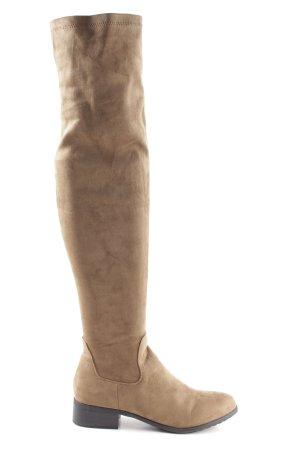Forever 21 Ocieplane buty nude W stylu casual