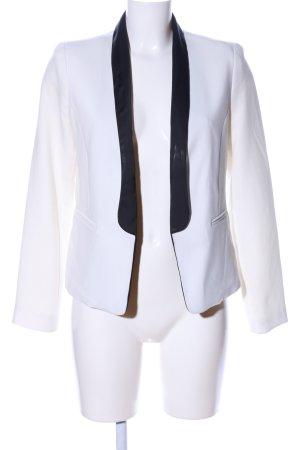 Forever 21 Blazer de esmoquin blanco-negro estilo «business»