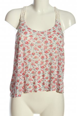 Forever 21 Spaghettiträger Top weiß-rot Allover-Druck Casual-Look