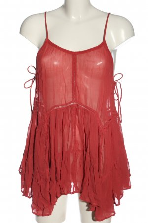 Forever 21 Spaghettiträger Top rot Casual-Look