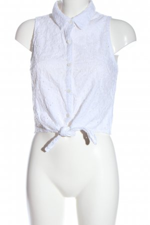 Forever 21 Blusa in merletto bianco stile casual