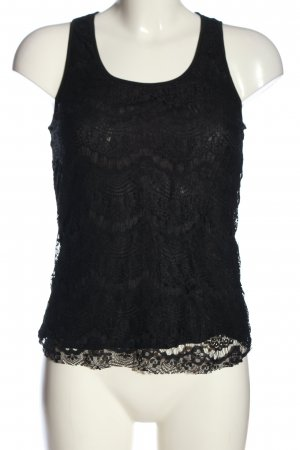 Forever 21 Spitzenbluse schwarz Casual-Look
