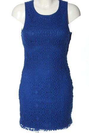 Forever 21 Spitzenkleid blau abstraktes Muster Casual-Look