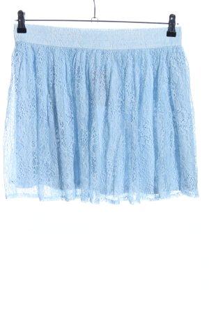 Forever 21 Falda de encaje azul look casual