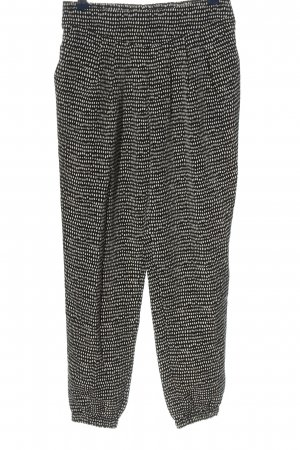 Forever 21 Jersey Pants black-white allover print casual look