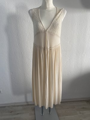 Forever 21 Strand Kleid Tunika Beige XS 36/38