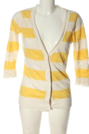 Forever 21 Cardigan tricotés blanc cassé-jaune primevère motif rayé
