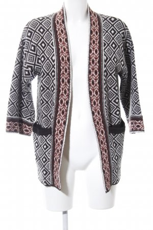 Forever 21 Strick Cardigan Allover-Druck Casual-Look