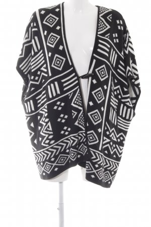 Forever 21 Knitted Poncho black-natural white