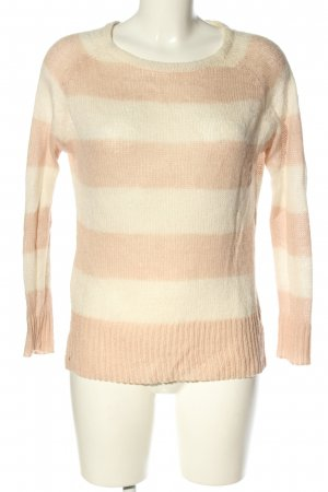 Forever 21 Strickpullover creme-wollweiß Streifenmuster Casual-Look