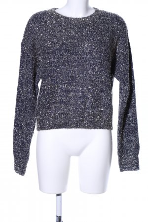 Forever 21 Strickpullover blau meliert Casual-Look