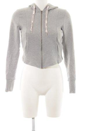 Forever 21 Veste sweat gris clair-rosé moucheté style décontracté