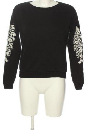 Forever 21 Sweatshirt schwarz-weiß Casual-Look