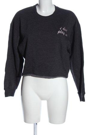 Forever 21 Sweatshirt schwarz-wollweiß meliert Casual-Look
