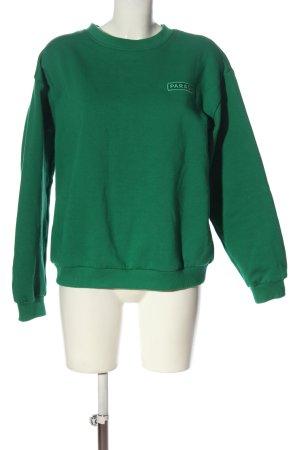 Forever 21 Sweatshirt vert style décontracté