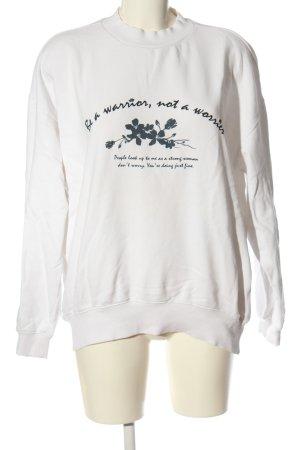 Forever 21 Bluza dresowa Wydrukowane logo W stylu casual