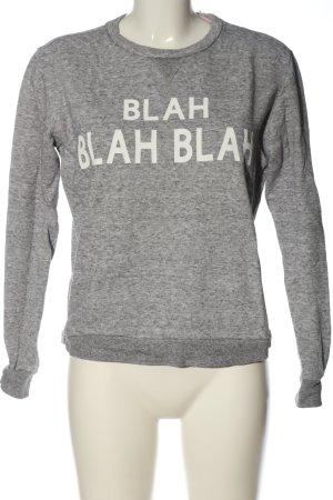 Forever 21 Sweatshirt hellgrau-weiß meliert Casual-Look