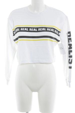 Forever 21 Sweatshirt Schriftzug gedruckt sportlicher Stil