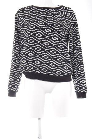 Forever 21 Sweatshirt schwarz-weiß grafisches Muster Casual-Look