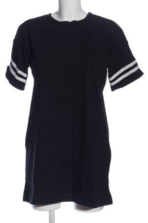 Forever 21 T-Shirt schwarz-weiß Streifenmuster Casual-Look