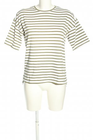 Forever 21 T-Shirt weiß-khaki Streifenmuster Casual-Look