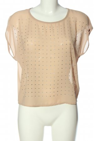 Forever 21 Transparenz-Bluse nude Casual-Look