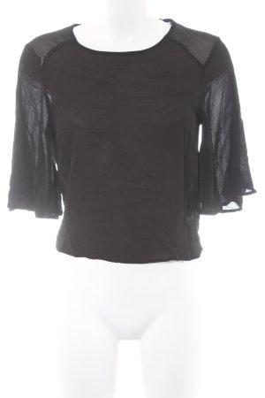 Forever 21 Transparenz-Bluse schwarz schlichter Stil