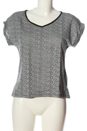 Forever 21 V-Ausschnitt-Shirt hellgrau meliert Casual-Look