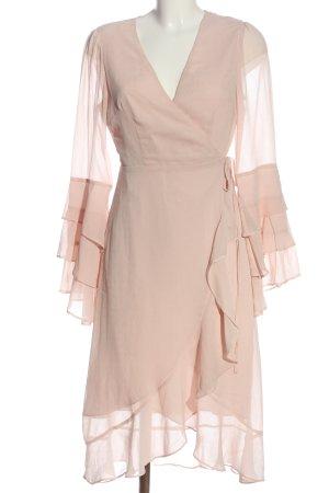Forever 21 Sukienka z falbanami różowy Elegancki