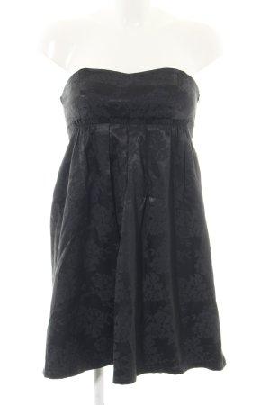 Bandeaujurk zwart bloemenprint elegant
