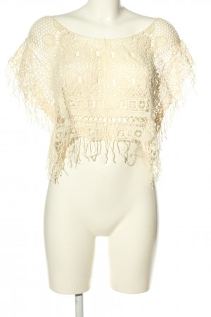 Forever 21 Häkelshirt creme Casual-Look