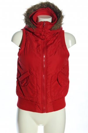 forever Kapuzenweste rot Casual-Look