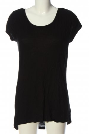 Forever 21 Kurzarm-Bluse schwarz grafisches Muster Casual-Look