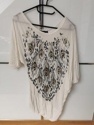 forever Camisa larga blanco-negro
