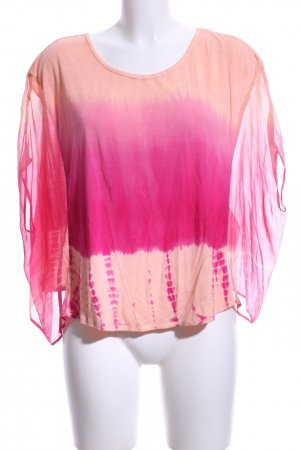Forever New Batikshirt pink-nude abstraktes Muster Casual-Look