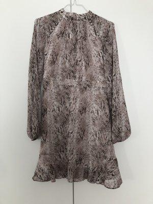 FOREVER NEW Petit hochgeschlossenes Kleid schlangenprint