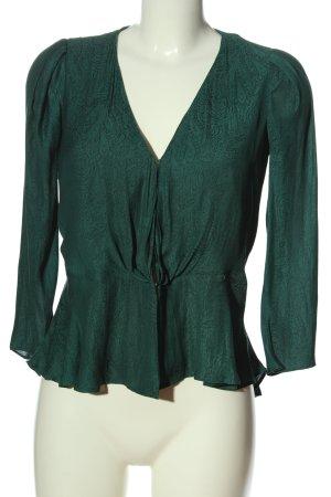 Forever New Blusa caída verde-negro estampado con diseño abstracto look casual